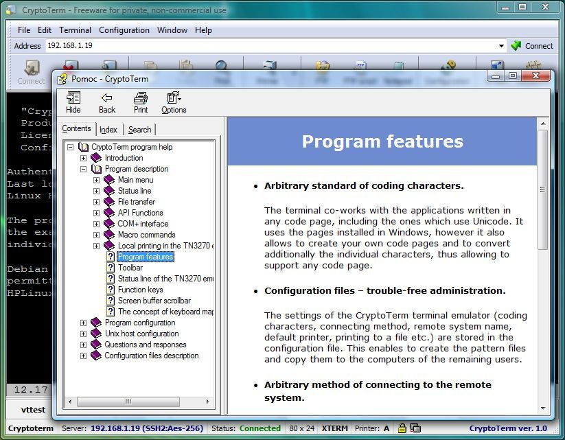 The documentation and context help system